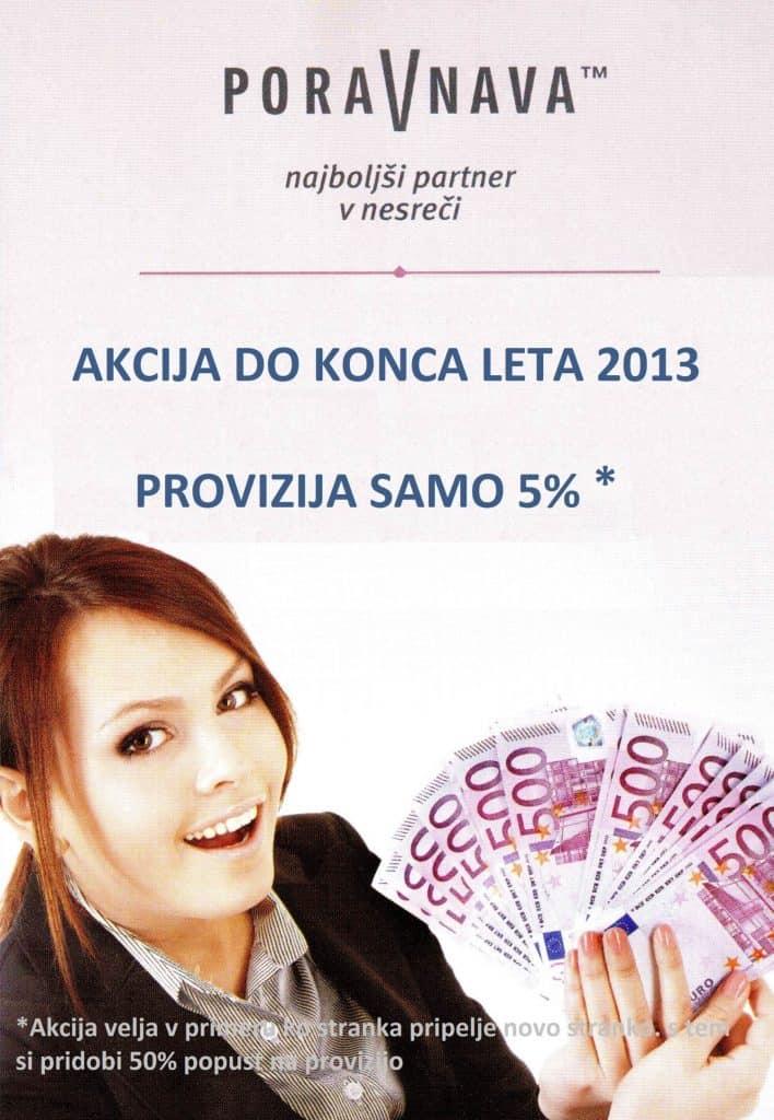 AKCIJA do konca leta 2013: Provizija samo 5% * 1