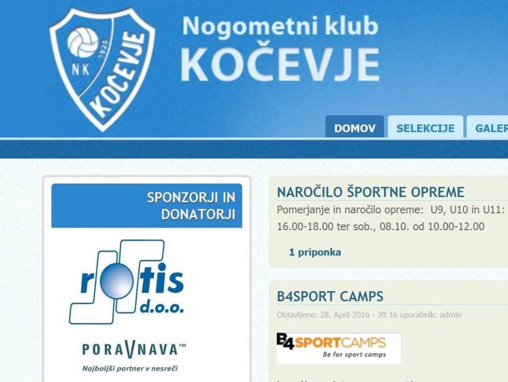 Poravnava sponzorira tudi mlado ekipo nogometnega kluba iz Kočevja 1