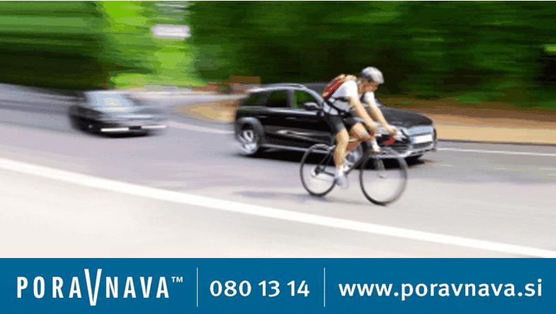 kolesarji prometne nesreče